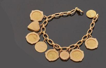 Bracelet à pendeloques en or jaune 18 k (750...