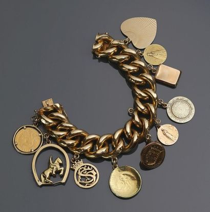 Bracelet breloques en or jaune 18 k (750...
