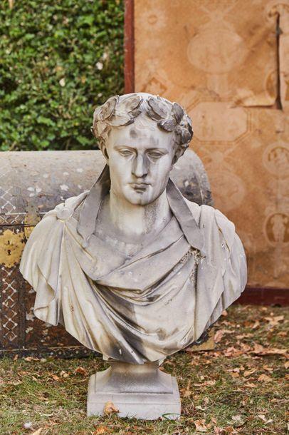 Mathurin MOREAU (1822-1912)  Buste de l'Empereur...