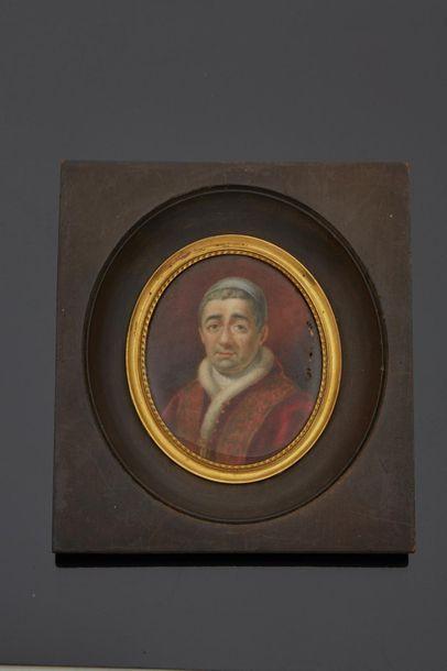 Ecole ITALIENNE circa 1831/35  Portrait du...