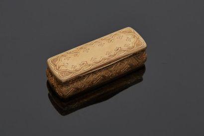 Boîte en or jaune 9 k (375 millièmes) de...