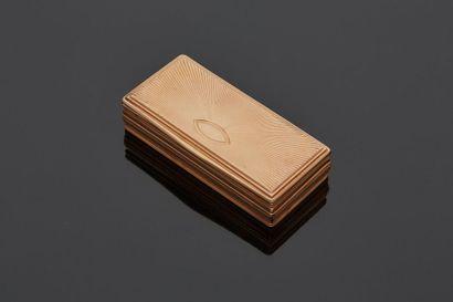 Boîte en or jaune 14 k (585 millièmes) de...