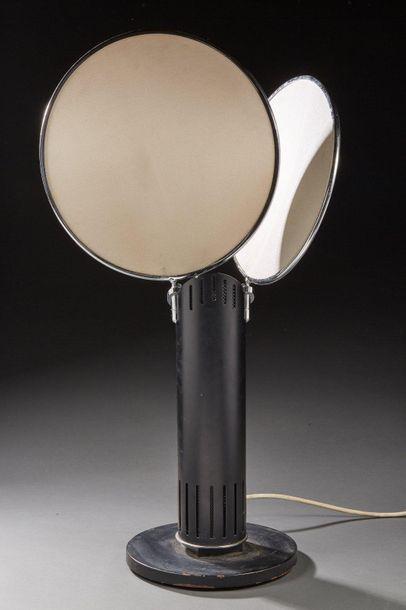 Lampe de table en métal noir à réflecteurs...