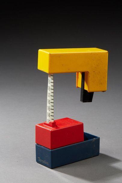 Mètre mesureur à embouts en abs jaune rouge...