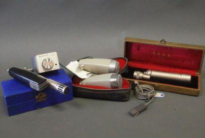 Ensemble de 6 micros dont :  - 1 micro cravate...