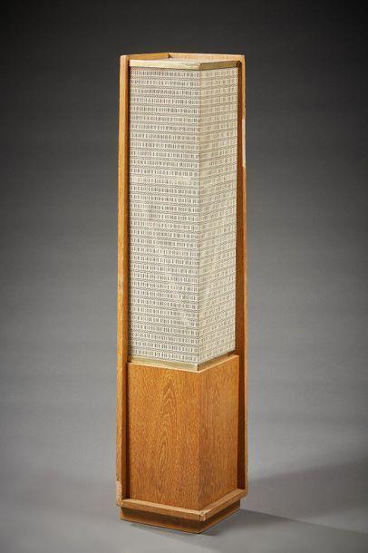 ENCEINTE colonne quadrangulaire en placage...