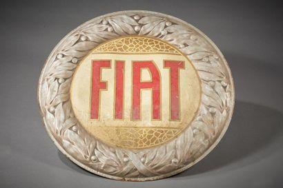 PANNEAU PUBLICITAIRE recto verso «FIAT»...