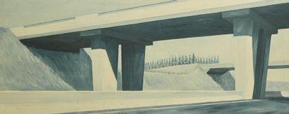 ECOLE du XXe siècle.  «38ème jour», pont...