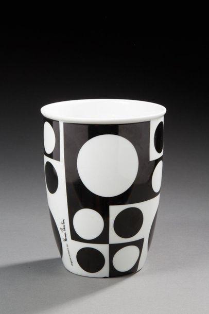 Verner PANTON (1926-1998)  Vase en porcelaine...