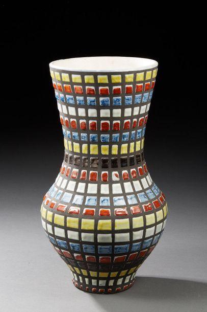 Roger CAPRON à Vallauris  (1922-2006)  Vase...