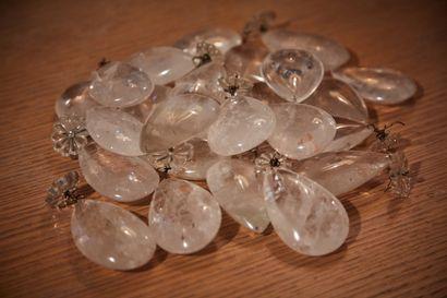 25 pampilles gouttes en cristal de roches...