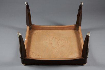Léonard Tsuguharu FOUJITA (1886-1968)  Table basse en placage de bois vernis acajou,...