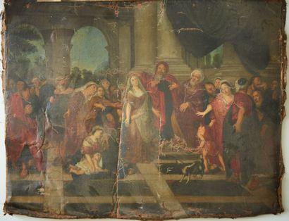 Ecole FRANCAISE du XVIIIe siècle  Scène religieuse...