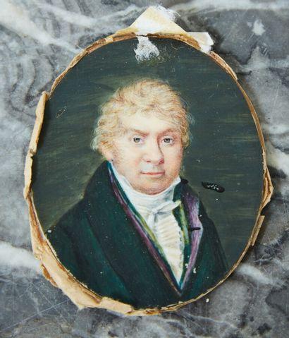 Ecole française vers 1820  Portrait d'homme...