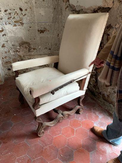 Grand fauteuil de malade à crémaillère de...
