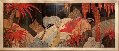 RIEDLINDER (XXe siècle)  Paysage fantastique...