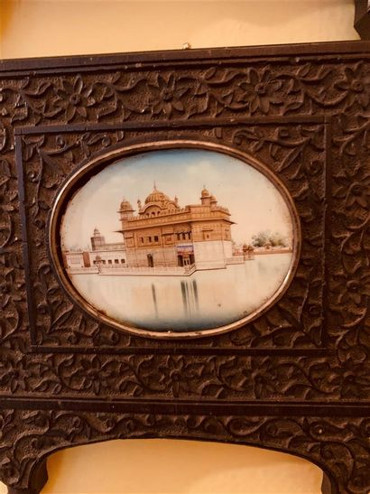 Temple d'Or d'Amritsar Pigments polychromes...