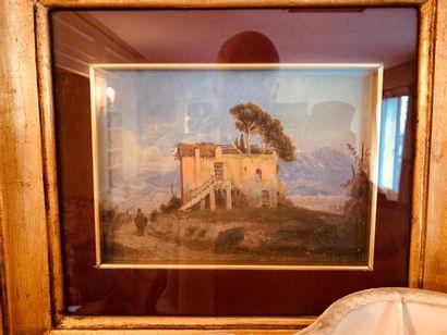 Ecole ITALIENNE du XIXe siècle  Vue d'une...