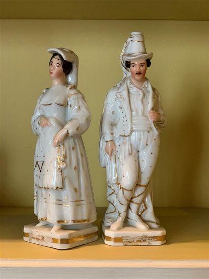 Jacob PETIT (1796-1868)  Paire de statuettes...