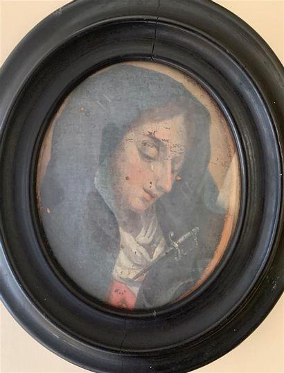Ecole ITALIENNE du XVIIIe siècle  Mater dolorosa...