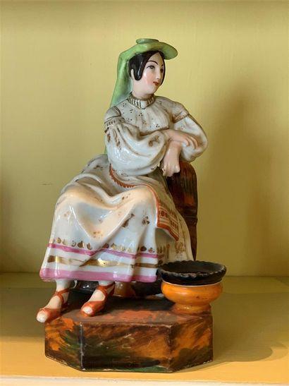 Jacob PETIT (1796-1868)  Statuette flacon...