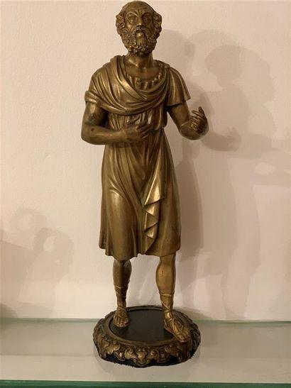 Statuette représentant Sénèque en bronze,...