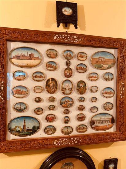Importante collection de 40 miniatures indiennes...
