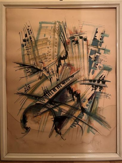 Roger LERSY (1920-2004)  Polyphonie urbaine...