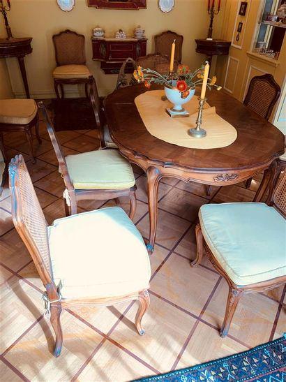 Table de salle à manger en bois naturel de...