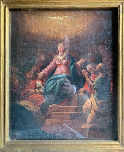 Ecole ITALIENNE du XVIIIe siècle  Pentecôte...