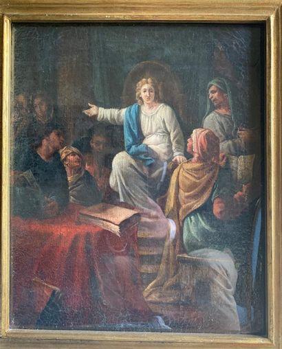 Ecole ITALIENNE du XVIIIe siècle  Scène biblique...