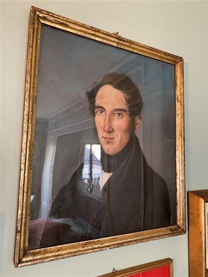 Ecole du XIXe siècle  Portrait d'homme en...