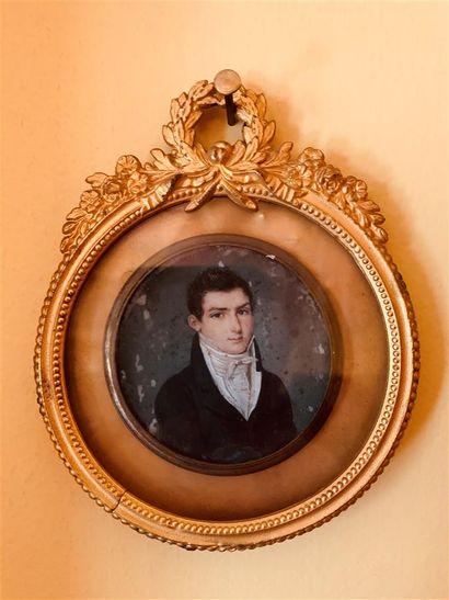 Ecole FRANCAISE du début du XIXe siècle  Portrait...