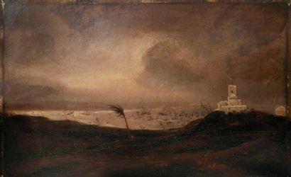 Théodore GUDIN (1802-1880) Coup de vent à sidi el feruck, le 16 juin 1830 Huile sur...