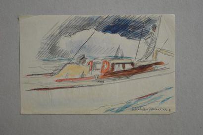 Philippe DAUCHEZ (1900 - 1984)  3 dessins...