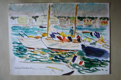 Philippe DAUCHEZ (1900 - 1984)  Voiliers...