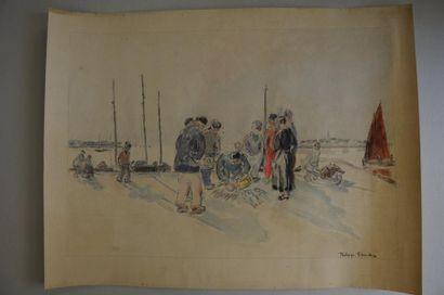 Philippe DAUCHEZ (1900 - 1984)  3 dessins [BRETAGNE]...