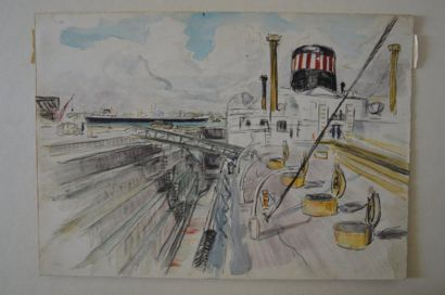 Philippe DAUCHEZ (1900 - 1984)  8 dessins...