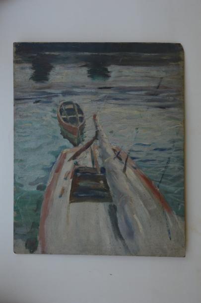 Philippe DAUCHEZ (1900 - 1984)  Voilier...