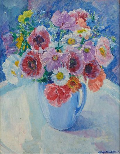 William MALHERBE (1884-1951)  Fleurs  Carton,...
