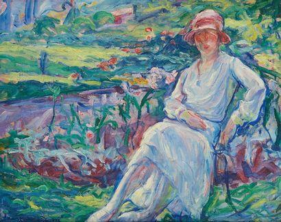 William MALHERBE (1884-1951)  Robe blanche...