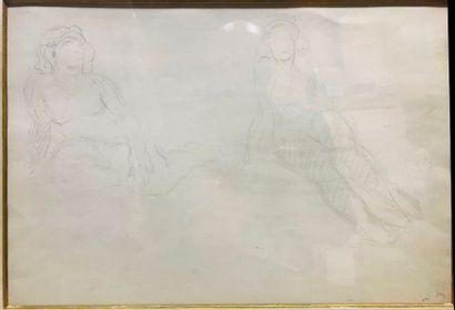 William MALHERBE (1884-1951)  Deux nus  Dessin,...