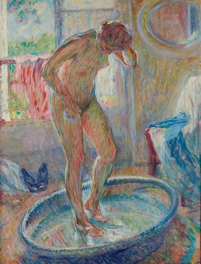 William MALHERBE (1884-1951)  Le tub  Toile,...
