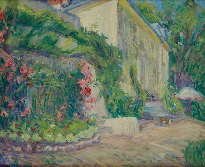 William MALHERBE (1884-1951)  Maison et jardin...