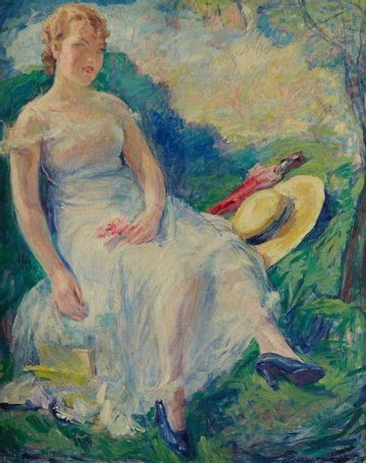 William MALHERBE (1884-1951)  Femme à la...