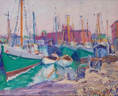 William MALHERBE (1884-1951)  Port de Gloucester...