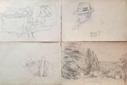 William MALHERBE (1884-1951)  Homme au chapeau...