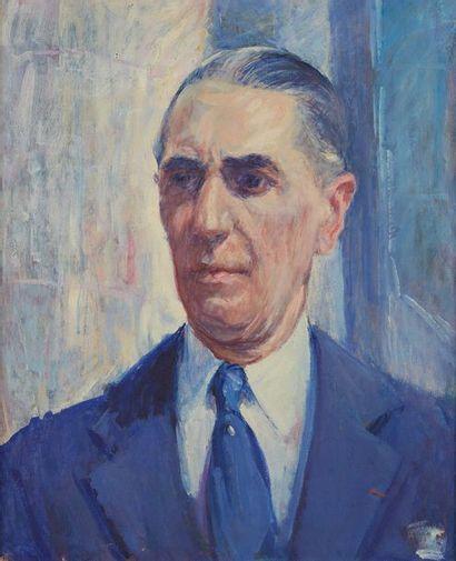 William MALHERBE (1884-1951)  Portrait d'homme...