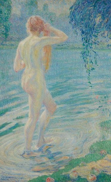 William MALHERBE (1884-1951)  Nu à la rivière...