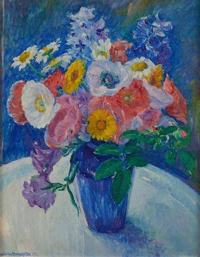 William MALHERBE (1884-1951)  Fleurs  Toile,...